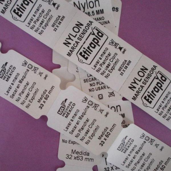 Etiquetas de Nylon