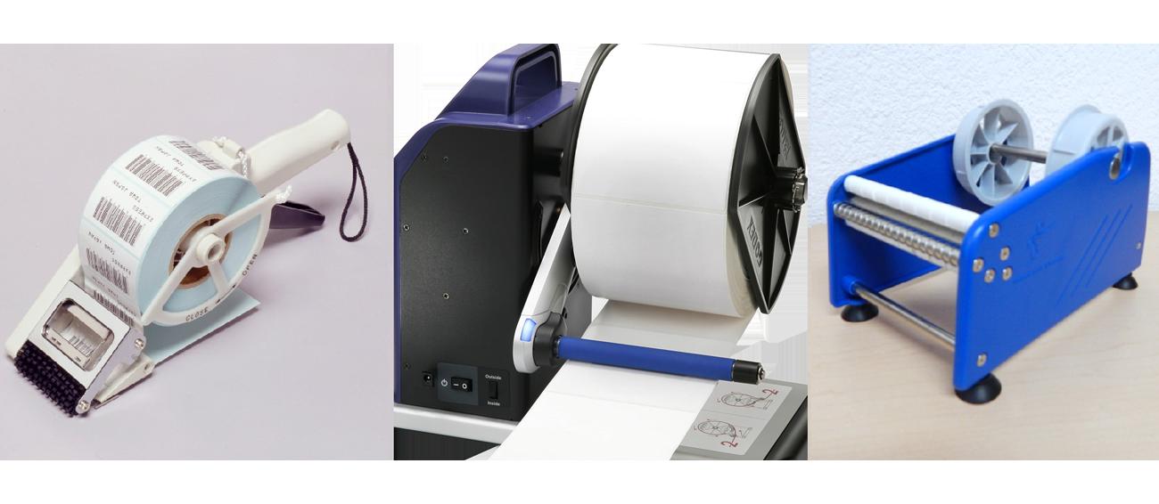 Re-embobinadoras y despachadores de etiquetas