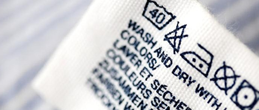 Etiquetas para instrucciones de lavado